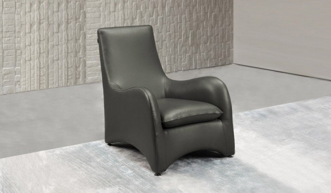 Swoop Leather Armchair