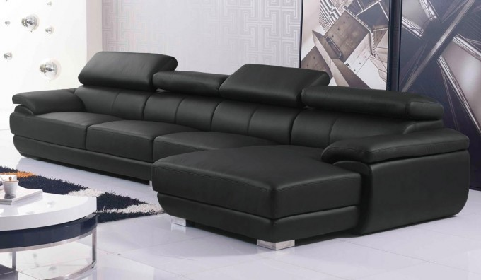 Vinelli Large Leather Corner Sofa