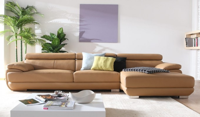 Vinelli Leather Corner Sofa