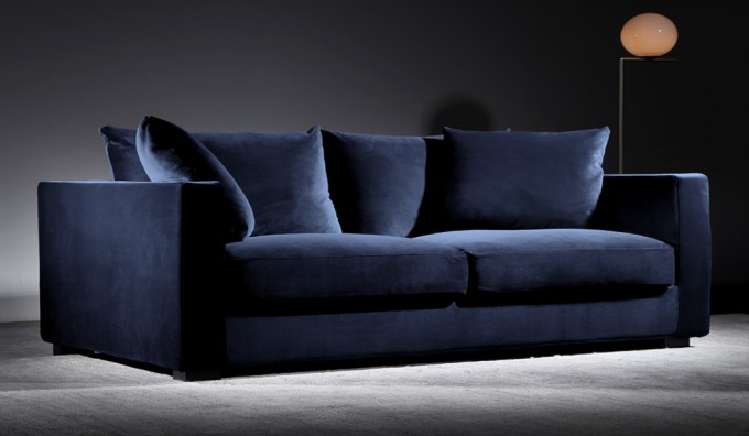 Violin 3 Seater Velvet Sofa