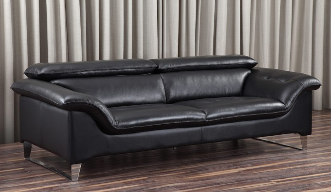 Visso Leather 3 Seater Sofa