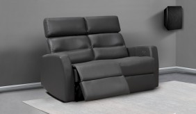 Atlas Leather 2 Seater Sofa