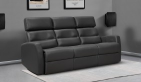 Atlas Leather 3 Seater Sofa
