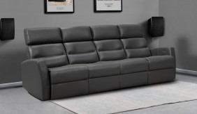 Atlas Leather 4 Seater Sofa