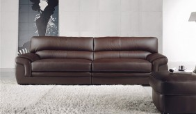 Bachelli 4 Seater Leather Sofa