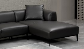 Bravas Leather Chaise