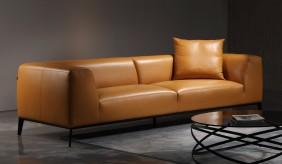 Bravas Leather 3 Seater Sofa
