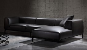 Bravas Leather Corner Sofa