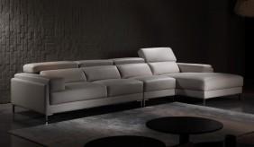 Clio Large Leather Corner Sofa