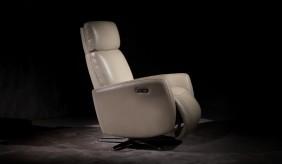 Copenhagen Leather Dual Recline Swivel Chair
