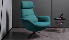 Deckard Fabric Swivel Chair