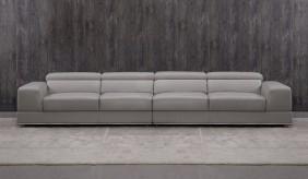 Domino Leather 5 Seater Sofa