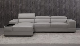 Domino Leather Corner Sofa