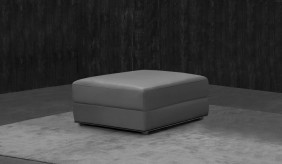 Domino Leather Footstool