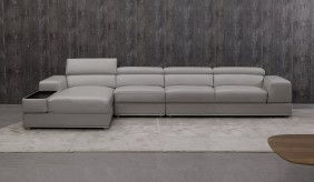 Domino Leather Large Corner Sofa