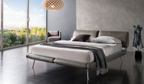 Eclipse Leather Bed