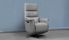 Gravity Leather Triple Motor Swivel Recliner Chair