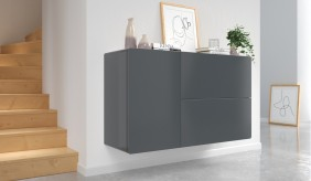 Ikon Graphite Floating Sideboard - 110 cm