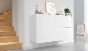 Ikon White Floating Sideboard - 110 cm