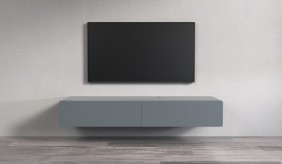 Ikon Matte Graphite Floating TV Unit - 166cm
