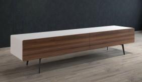 Ikon Matte White + Walnut STANDING Cabinet - 220cm