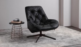 Ripasso Leather Swivel Chair