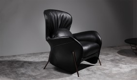 Opus Faux Leather Lounger Chair