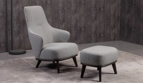 Lisbona Chair and Ottoman