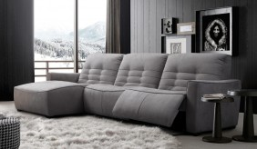 Rosetta Fabric Corner Recliner Sofa