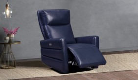 Larson Blue Electric Recliner Armchair