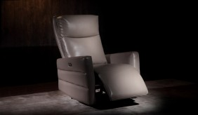 Larson Cream Electric Recliner Armchair