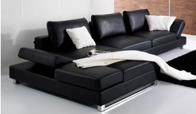 Livinia Leather Corner Sofa