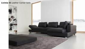 Livinia II Leather Corner Sofa