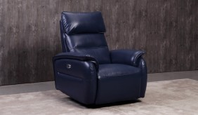 Malmo Blue Recliner Armchair