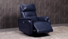 Malmo Blue Electric Recliner Armchair