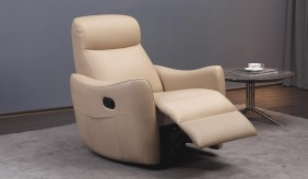 Mazzola Leather Recliner Armchair
