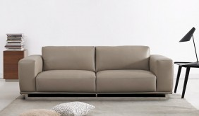 Mobo 3 Seater Leather Sofa