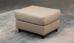 Monza Leather Footstool