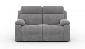 Novell 2 Faux Suede Electric Recliner Sofa