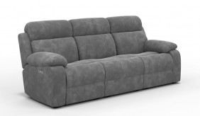 Novell 3 Faux Suede Electric Recliner Sofa