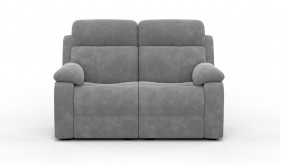 Novell Slim 2 Faux Suede Recliner Sofa