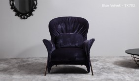 Opera Velvet Lounger Chair