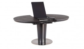 Alpha Ceramic Dark Grey Extending Dining Table