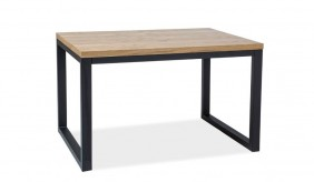 Norra II Oak 180 Black Dining Table