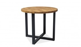 Nordkapp Round Oak Dining Table Ø90