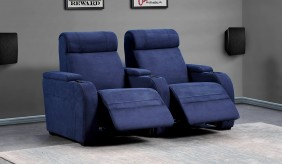 Paramount Faux Suede 2 Home Cinema Seating