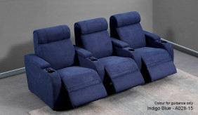 Paramount Faux Suede 3 Home Cinema Seating