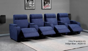 Paramount Faux Suede 4 Home Cinema Seating