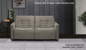 Rosetta Slim 2 Seater Fabric Recliner Sofa