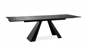 Delta 6-10 Seat Extending Dining Table - Black Glass